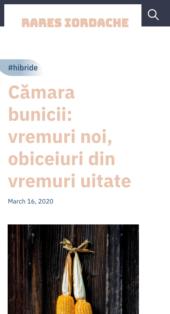Rares Iordache - Noto WordPress Theme for Writers Mobile View