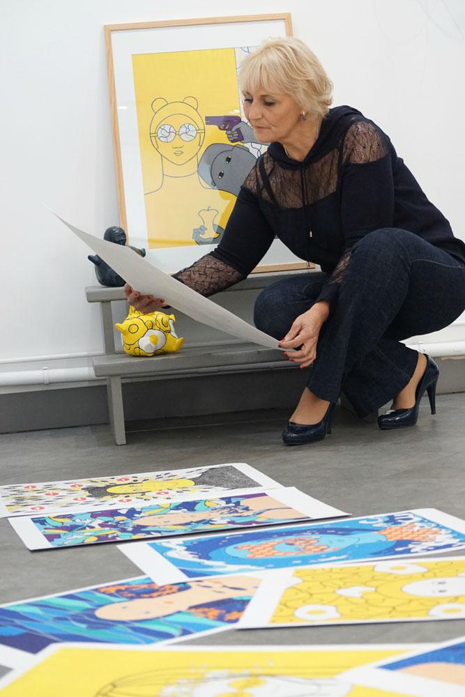 Delphine Lefèvre at LA GALERIE DES SENS showcasing her work