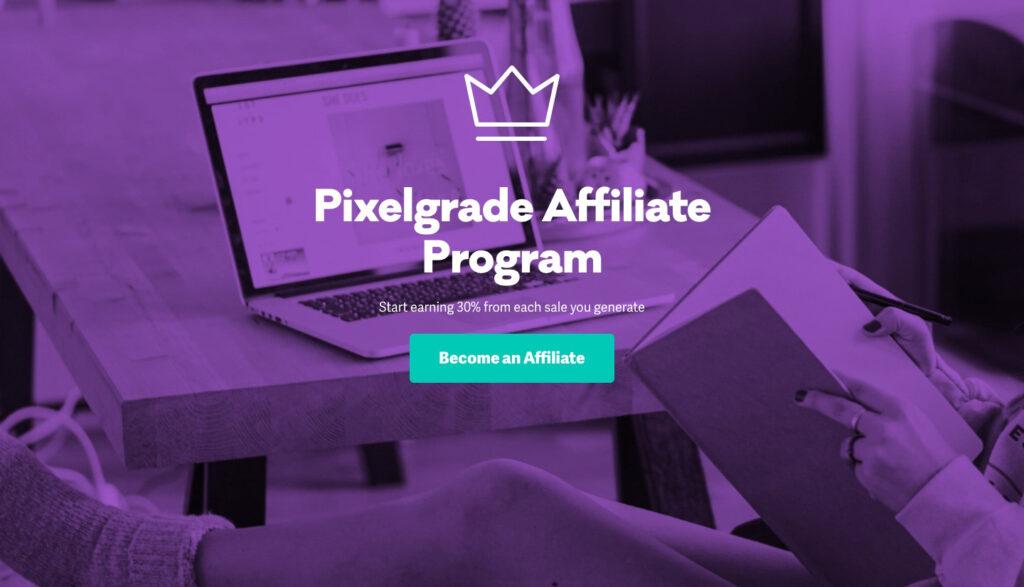 Pixelgrade affiliate program home page