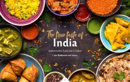 GOA Überlingen Indian restaurant created with Rosa 2