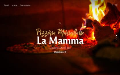 Pizzeria Marseillaise La Mamma Website created with Rosa 2