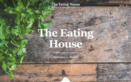 The Eating House Home Page made with Rosa 2