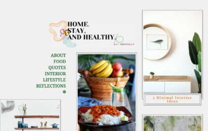 Blog created with Gema a personal WordPress theme
