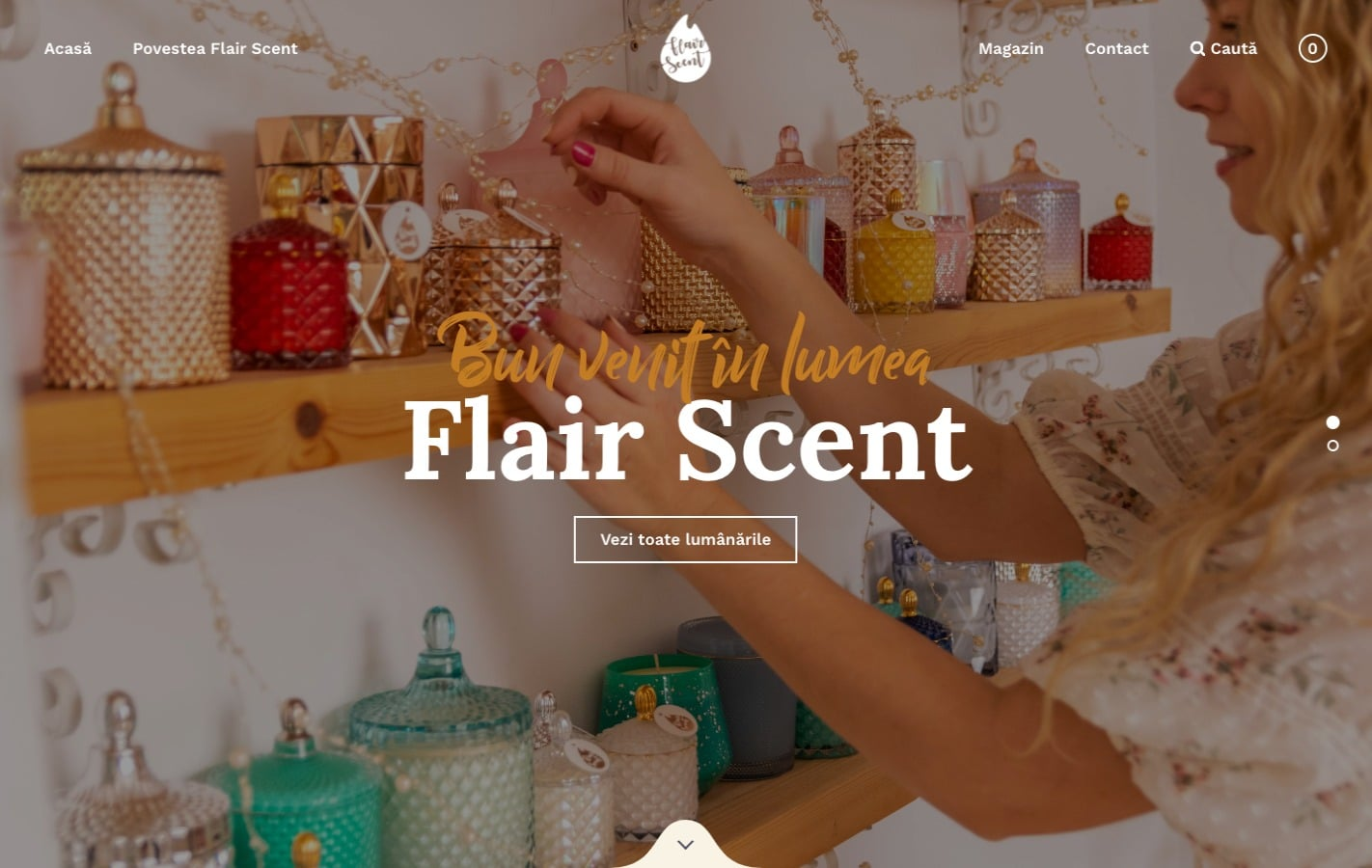Flair Scent Homepage - Website created with Rosa 2